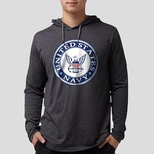 Navy - Logo, Slogan, Emblem, I Long Sleeve T-Shirt