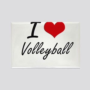 I Love Volleyball artistic Design Magnets