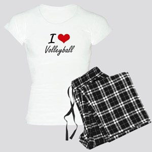 I Love Volleyball artistic Women's Light Pajamas
