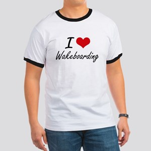 I Love Wakeboarding artistic Design T-Shirt