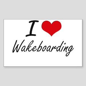 I Love Wakeboarding artistic Design Sticker