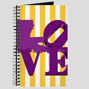 Louisiana Love Purple and Gold Journal