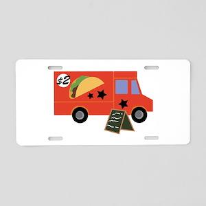 Taco Truck Aluminum License Plate