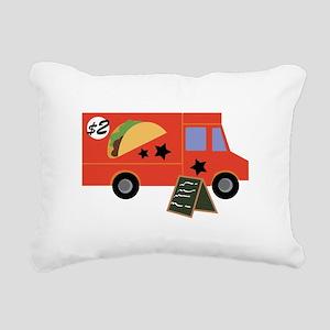 Taco Truck Rectangular Canvas Pillow