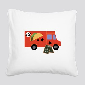 Taco Truck Square Canvas Pillow