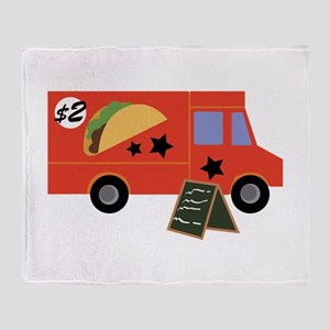 Taco Truck Throw Blanket