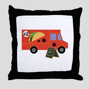 Taco Truck Throw Pillow