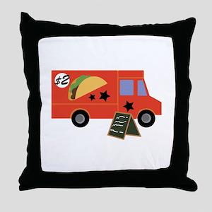 Taco Truck Throw Pillow