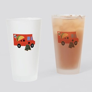 Taco Truck Drinking Glass