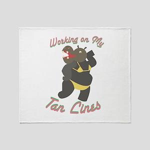 My Tan Lines Throw Blanket