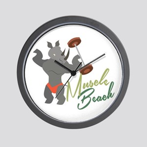 Muscle Beach Wall Clock