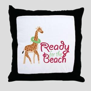 Ready For Beach Throw Pillow