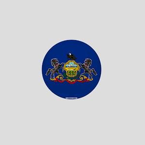 Pennsylvania State Flag Mini Button