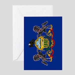Pennsylvania State Flag Greeting Card