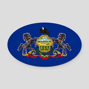 Pennsylvania State Flag Oval Car Magnet