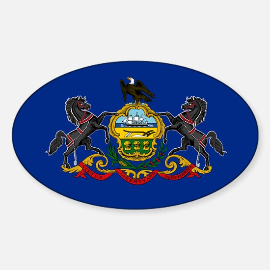 Pennsylvania State Flag Sticker (Oval)