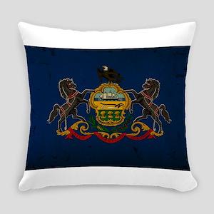 Pennsylvania State Flag VINTAGE Everyday Pillow