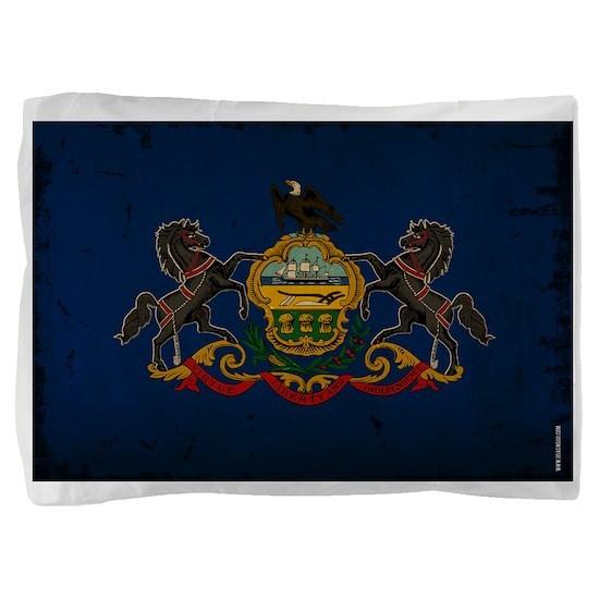 Pennsylvania State Flag VINTAGE Pillow Sham