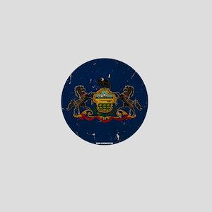 Pennsylvania State Flag VINTAGE Mini Button