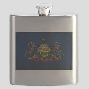 Pennsylvania State Flag VINTAGE Flask