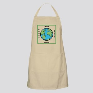 Work, Save, Travel, Repeat Apron