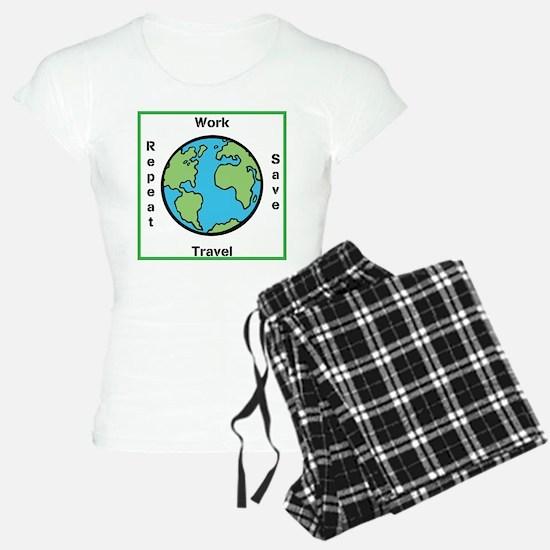 Work, Save, Travel, Repeat Pajamas