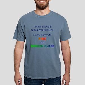 Fire And Broken Glass Men's T-Shirt