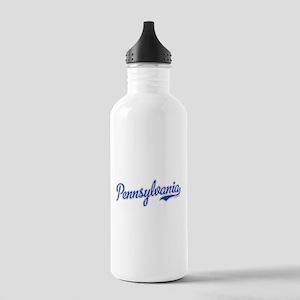 Pennsylvania Script Font Water Bottle