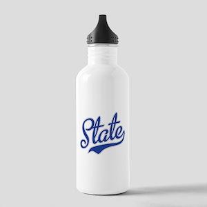 State Script Font Water Bottle