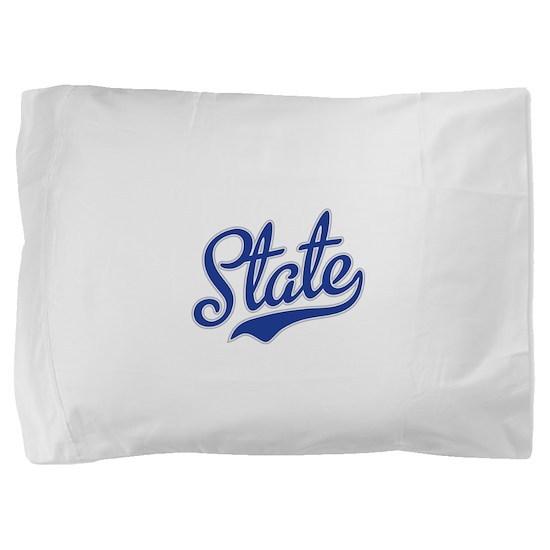 State Script Font Pillow Sham