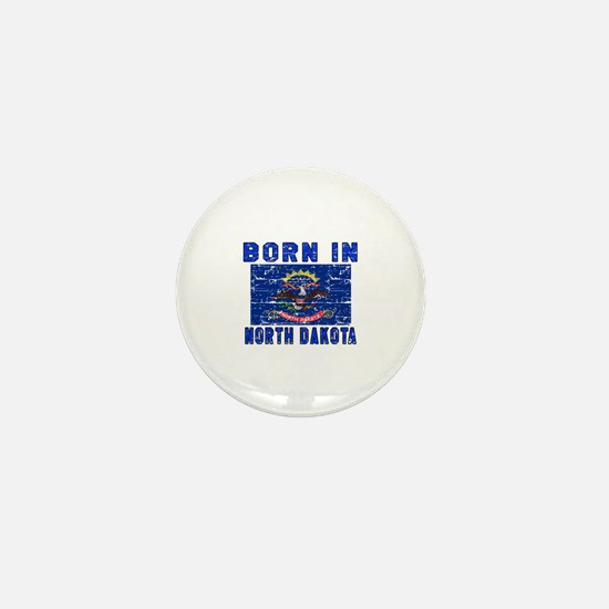 Born in North Dakota Mini Button