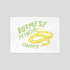 Burmese Python Owner 5'x7'Area Rug