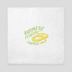 Burmese Python Owner Queen Duvet