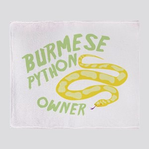 Burmese Python Owner Throw Blanket