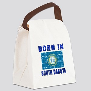 Born in South Dakota Canvas Lunch Bag