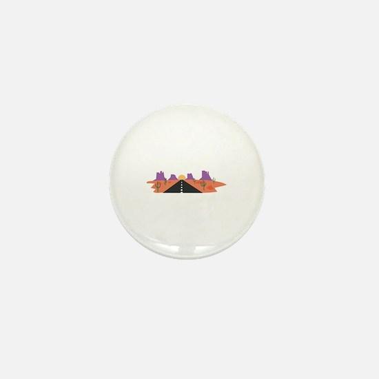 Desert Road Mini Button