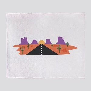 Desert Road Throw Blanket
