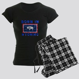Born in Wyoming Women's Dark Pajamas