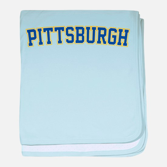 Pittsburgh - Jersey baby blanket