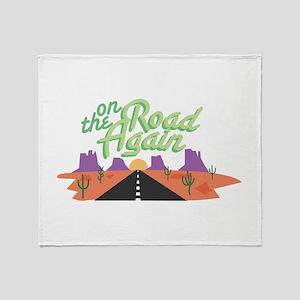 On Road Again Throw Blanket