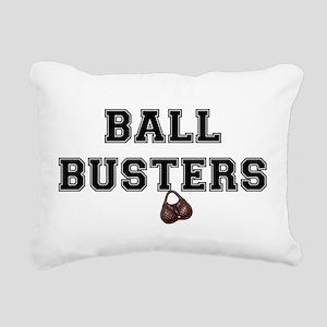 BALL BUSTERS - Rectangular Canvas Pillow