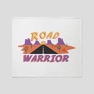 Road Warrior Throw Blanket