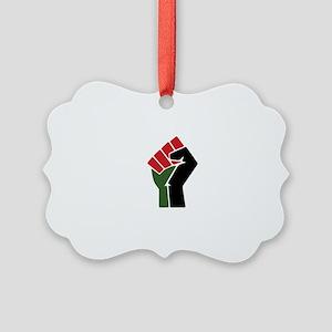 Black Red Green Fist Ornament