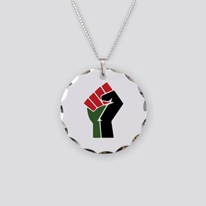 Black Red Green Fist Necklace