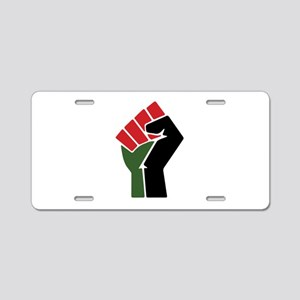 Black Red Green Fist Aluminum License Plate