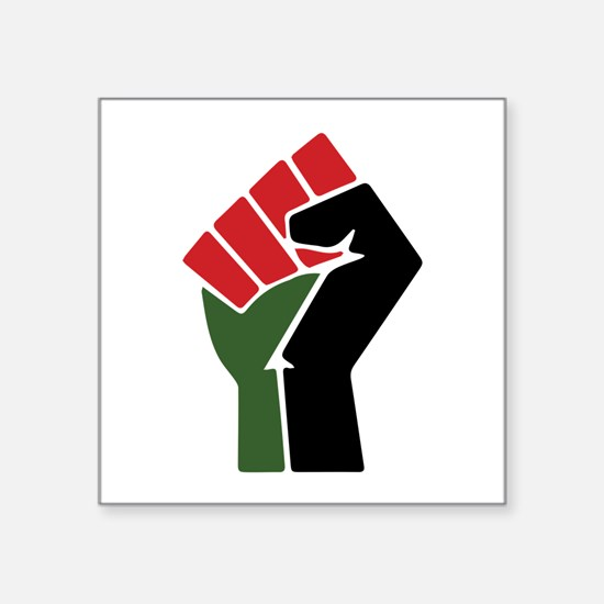 Black Red Green Fist Sticker