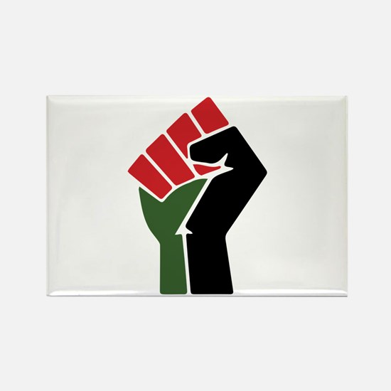 Black Red Green Fist Magnets