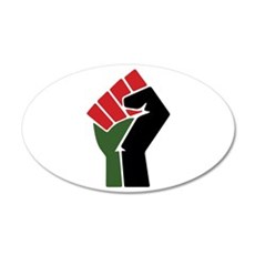 Black Red Green Fist Wall Decal