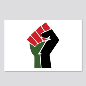 Black Red Green Fist Postcards (Package of 8)