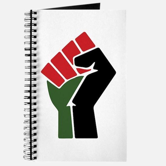 Black Red Green Fist Journal